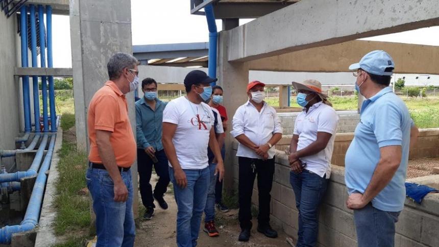 Supervisan el funcionamiento de la Ptar en Malambo
