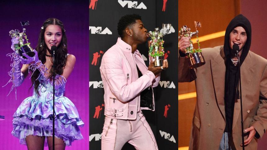Justin Bieber fue derrotado por Olivia Rodrigo en los premios MTV VMA