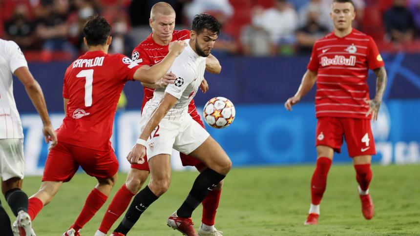 Sevilla igualó frente al Salzburgo en su debut en la Champions