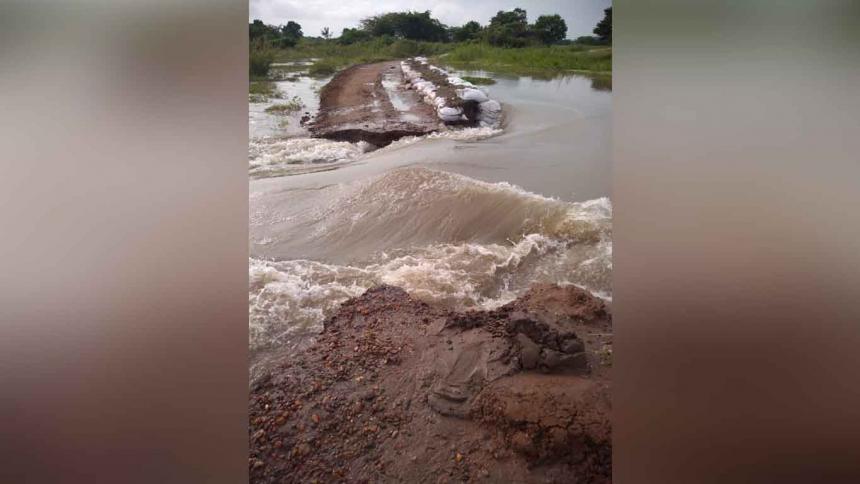Río Magdalena rompe muro de contención en Tenerife