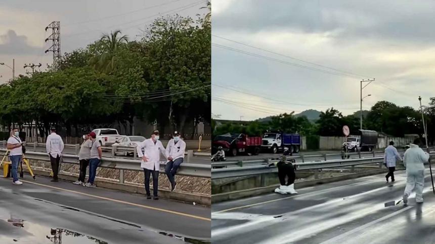 Tránsito Nacional de la Policía realizó reconstrucción del accidente de Gaira