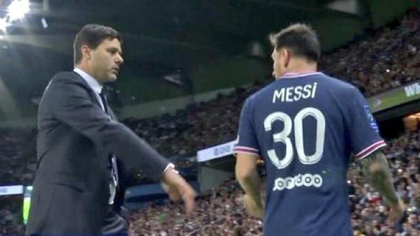Messi se molesta con Pochettino porque los sustituyeron