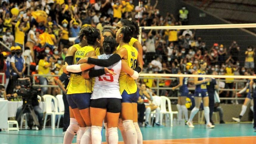 Selección Colombia femenina de voleibol venció a Brasil en el Sudamericano