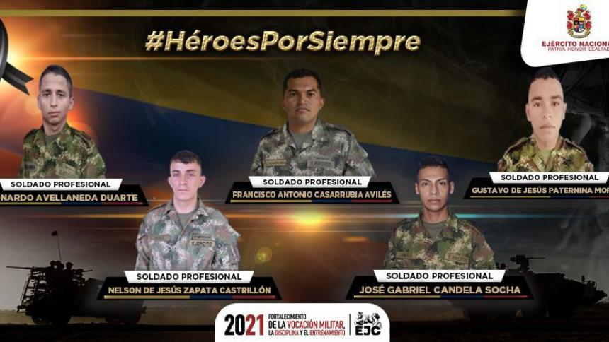 Reportan emboscada contra el Ejército en el sur de Córdoba