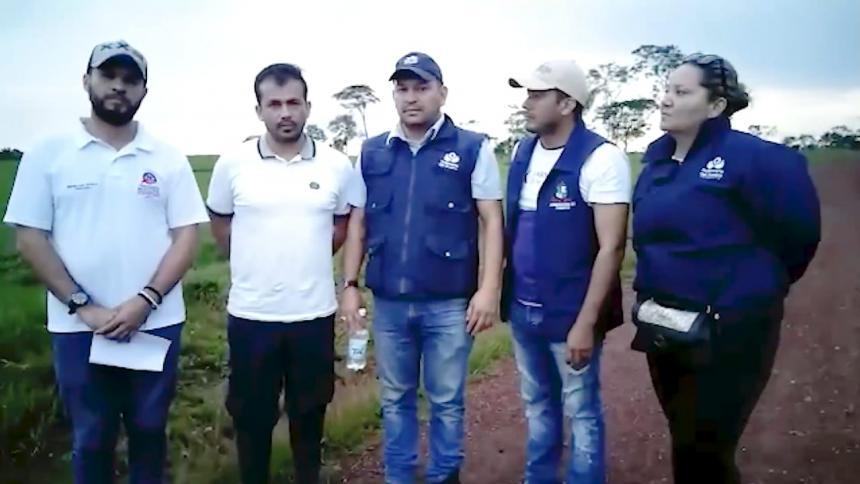 Campesinos liberan a funcionario de Minambiente