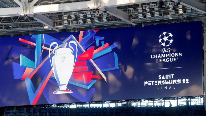 """La Uefa presenta el logo de la final de la """"Champions"""" en San Petersburgo"""