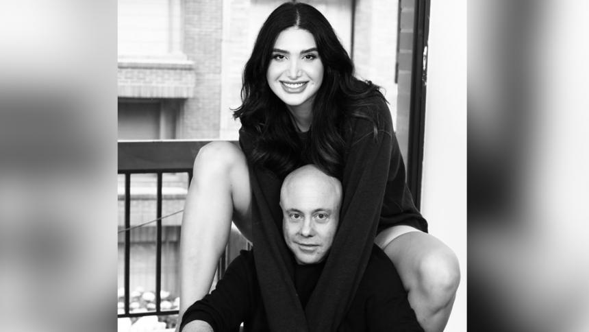 Jorge Rausch publica foto con su novia y es criticado por diferencia de edad