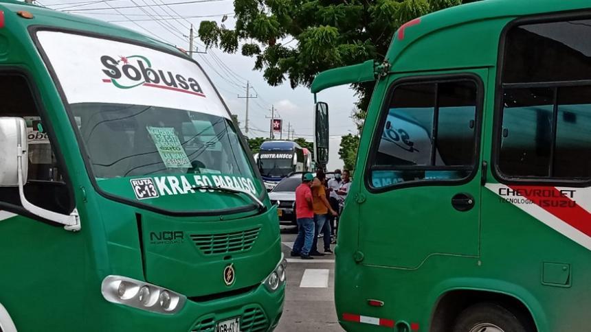 Paro de conductores de buses en Soledad y Barranquilla