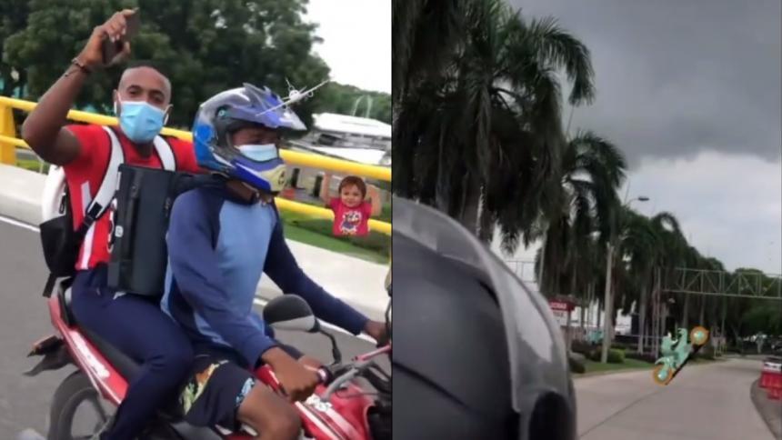 Por el paro de buses, los jugadores de Junior se fueron en moto hasta el aeropuerto