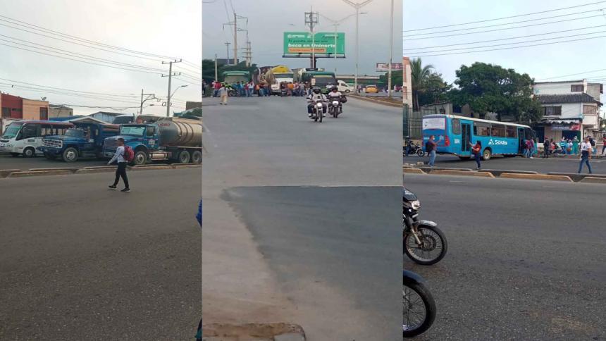 Paro de buses: nuevos bloqueos este sábado