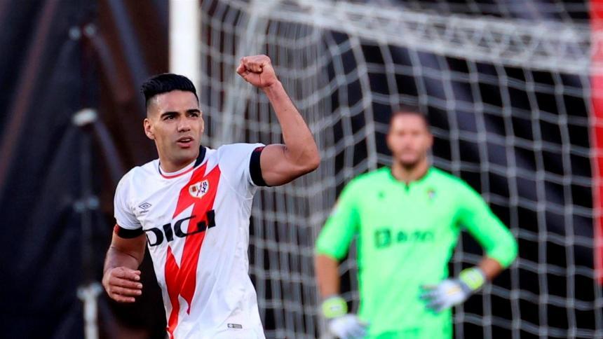 Rayo Vallecano 3, Cádiz 1: Falcao anota su tercer gol en tres partidos