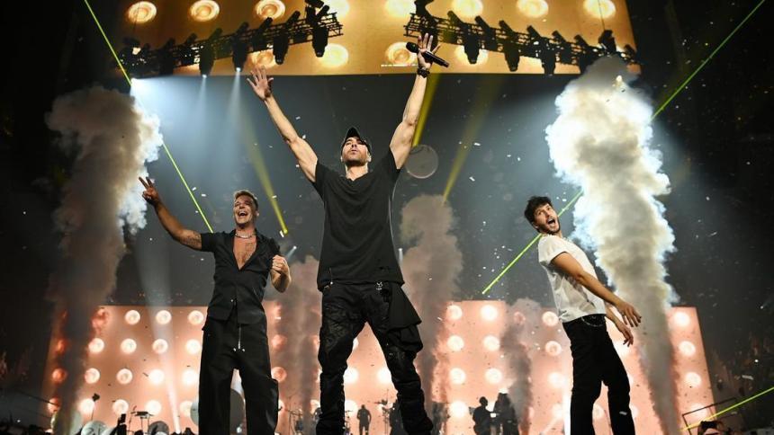 Arrancó la gira de Sebastián Yatra, Ricky Martín y Enrique Iglesias