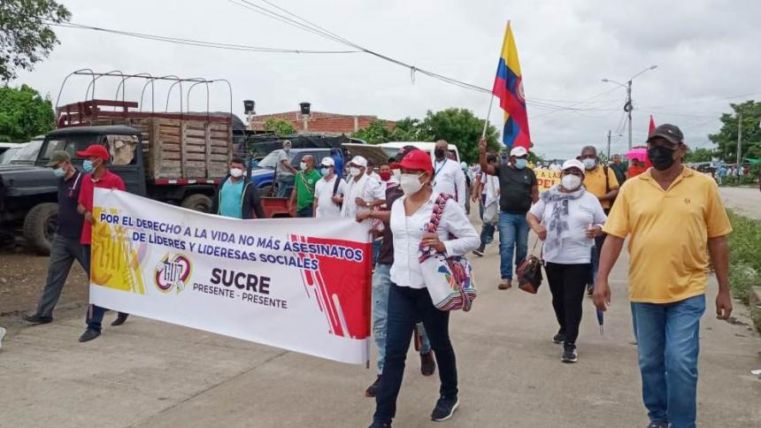 Protesta en Sincelejo