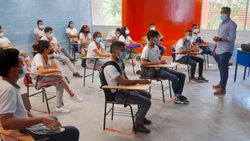 Reanudan clases en las aulas de Altos de la Sabana en Sincelejo