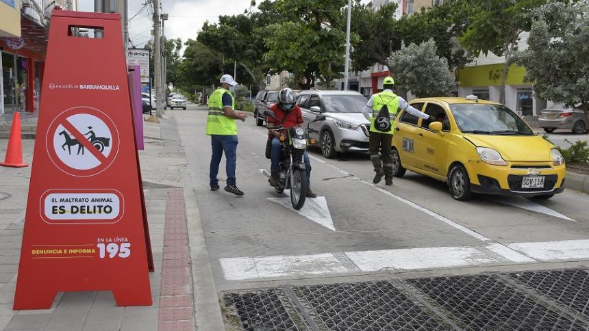 Socialización de vías prohibidas para el paso de vehículos de tracción animal