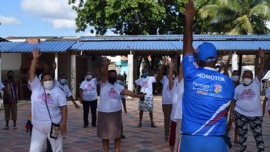 En Galapa realizan jornada lúdica para personas de la tercera edad