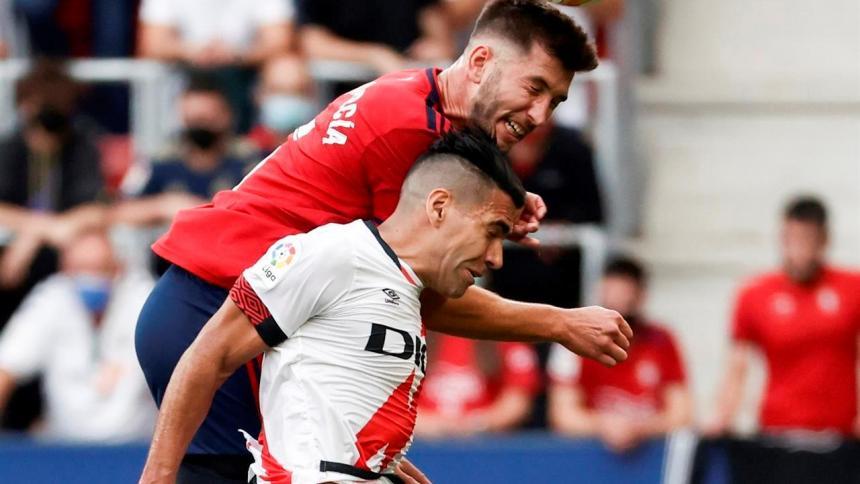 Falcao fue titular en la caída del Rayo Vallecano ante Osasuna