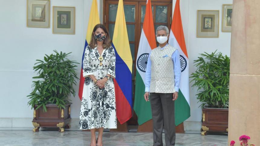 """Vicepresidente y Canciller Marta Lucia Ramírez propuso que """"Colombia sea el puerto de entrada de India en América Latina"""""""