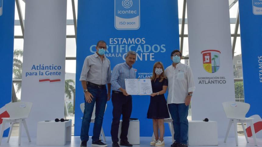 Por tercera vez renuevan certificado Icontec a la Gobernación del Atlántico