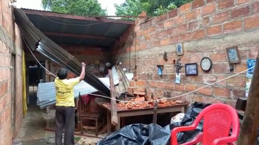 Vendaval causó estragos en el casco urbano y la zona rural de Ayapel