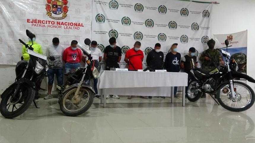 Capturan a presuntos sicarios al servicio del Clan del Golfo en Montería