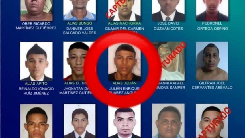 Capturan a alias Juliancito, uno de los más buscados en Barranquilla