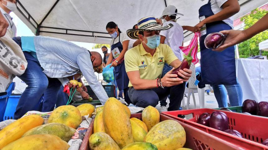 Todo listo para el mercado campesino este sábado en Montería