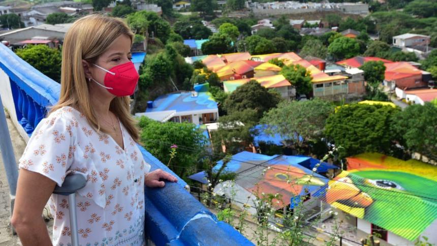 Usiacurí tendrá el primer mural en techos más grande de Colombia: Elsa Noguera