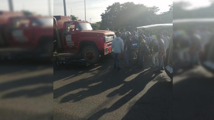 Muere hombre en medio de un accidente de tránsito en la Circunvalar