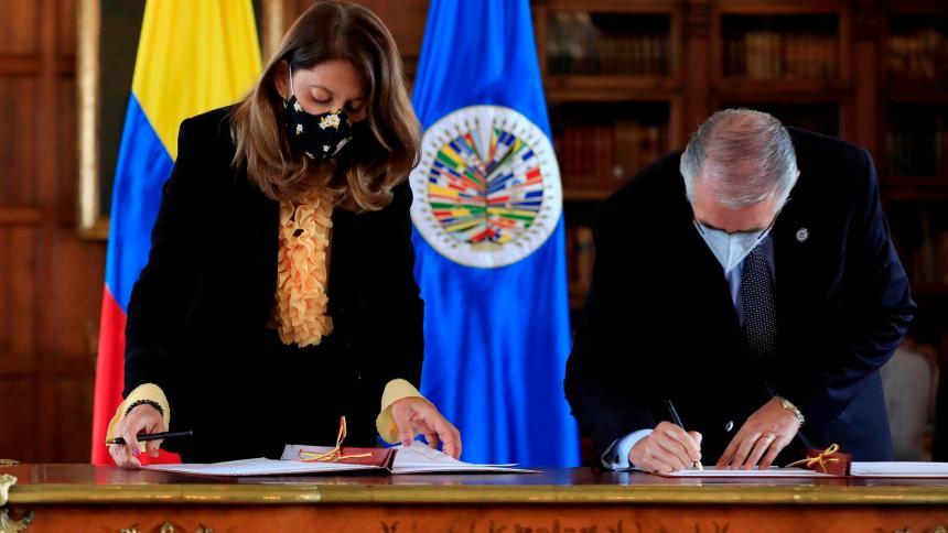 Colombia amplía a 2024 el mandato de misión de apoyo de OEA a proceso de paz