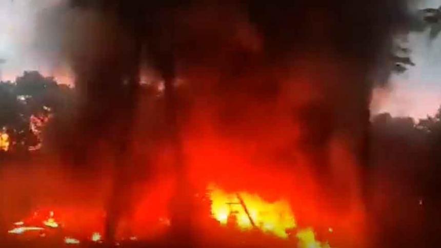Fuerte explosión e incendio en oleoducto en Barrancabermeja