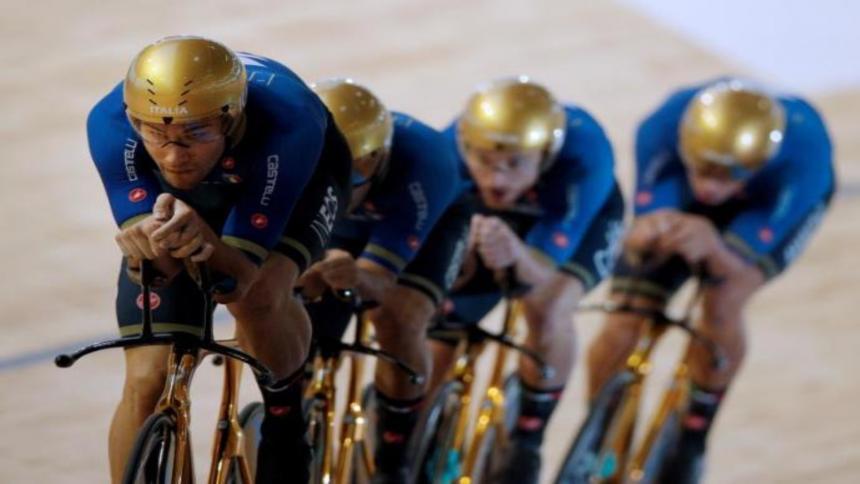 Alemania se cuelga el oro en velocidad tras batir tres veces el récord mundo