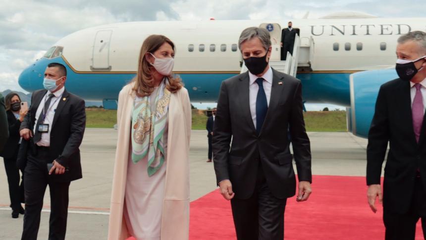 Visita del secretario de Estado de Estados Unidos, Antony Blinken, a Colombia