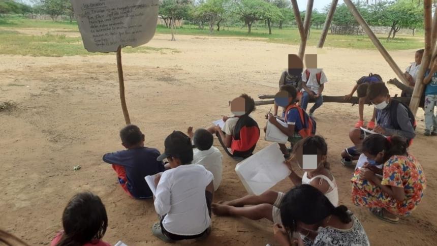 Piden a gobernación de La Guajira atender problemática de colegio rural