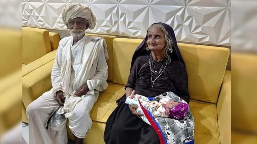 Mujer de 70 años afirma que dio a luz a su primer hijo