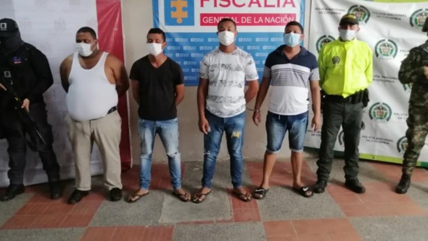 Capturan a cuatro del grupo 'El Combo de La Majayura' acusados de homicidio