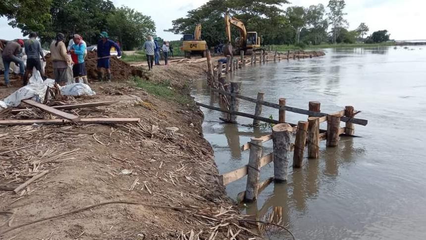 Erosión en Salamina: Obras de protección hechas por comunidad no convienen