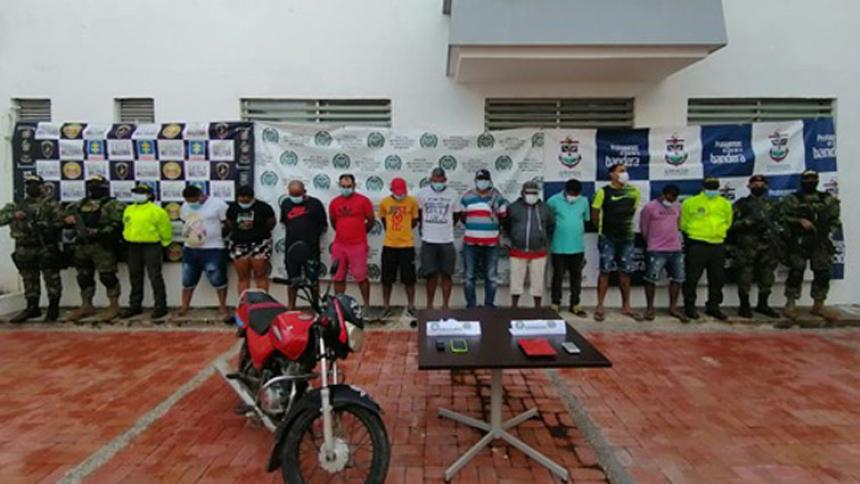 Capturan a 12 personas en Bolívar y Sucre por diferentes delitos