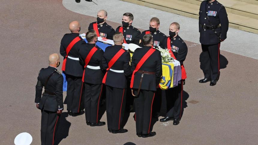 Funeral del duque de Edimburgo en el Castillo de Windsor