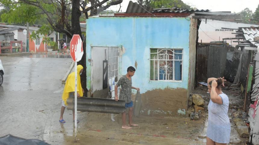 Los daños que dejó la lluvia de este domingo en Barranquilla