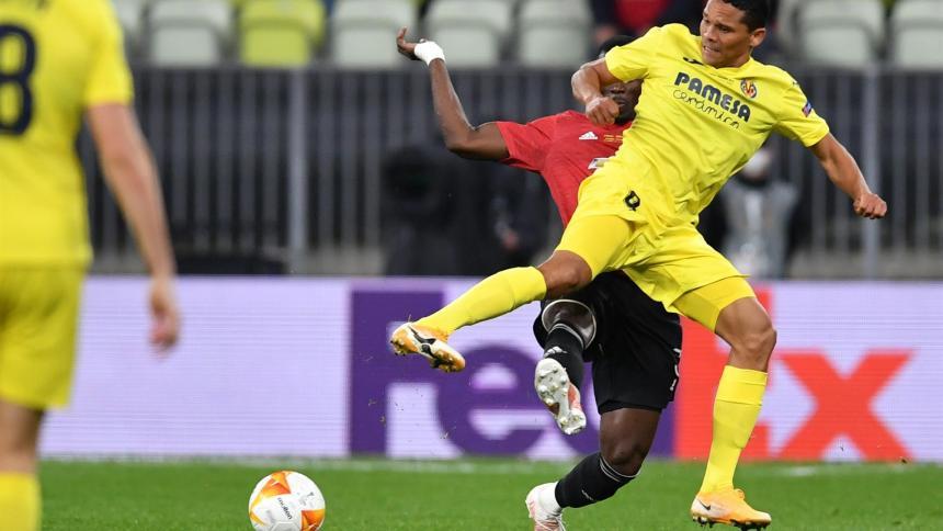 Imágenes de Carlos Bacca en la final de la Liga de Europa