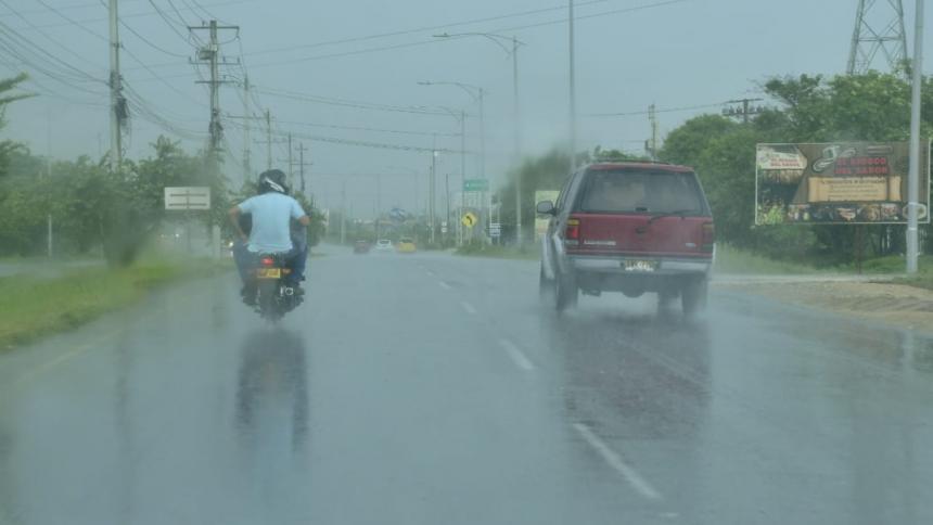 Así se registró el fuerte aguacero de este domingo en Barranquilla