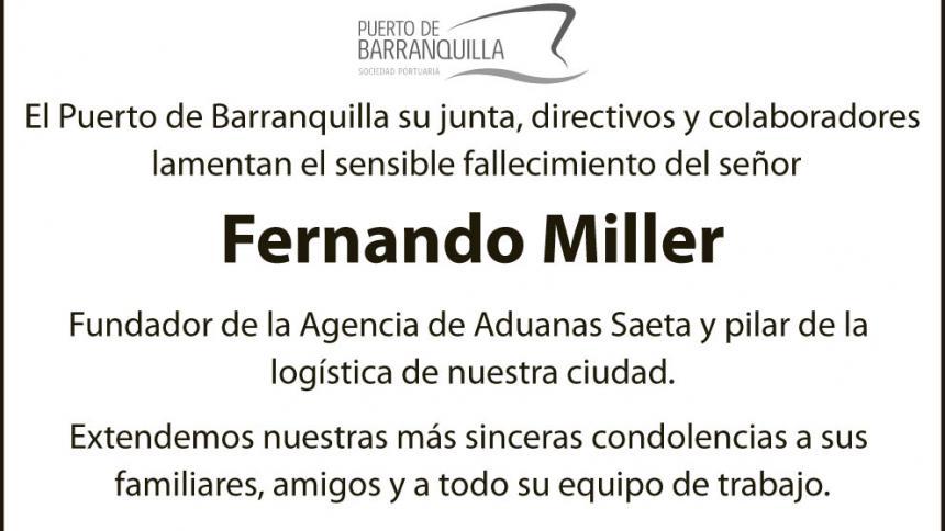 FERNANDO MILLER