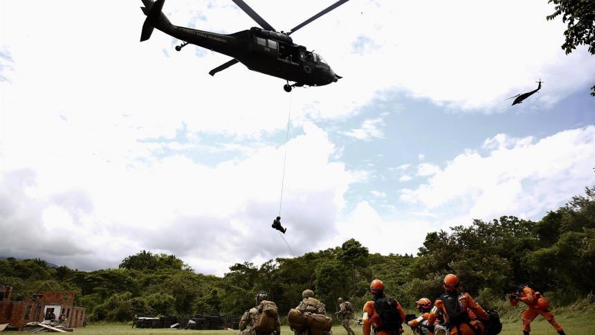 Fuerzas aéreas americanas preparan en Colombia atención a desastres naturales
