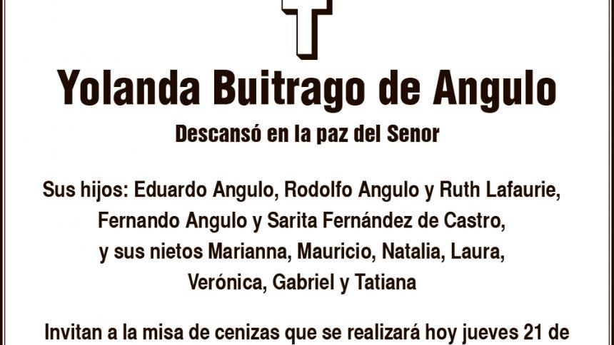 Yolanda Buitrago de Angulo