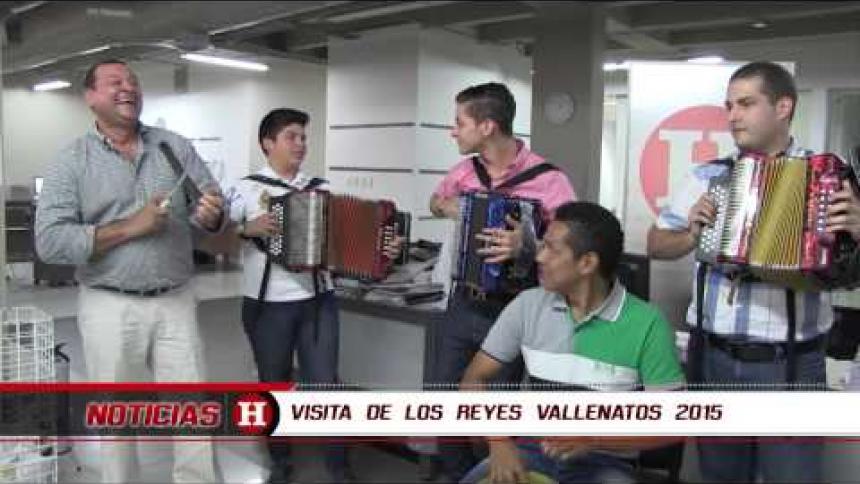 Visita de los Reyes Vallenatos 2015 a EL HERALDO