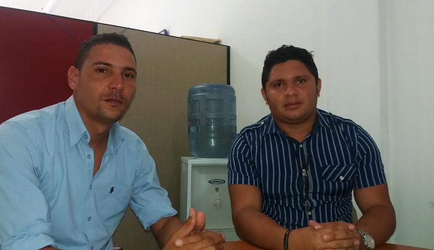 Ochoa y Joiro, ayer, en la sede de EL HERALDO.