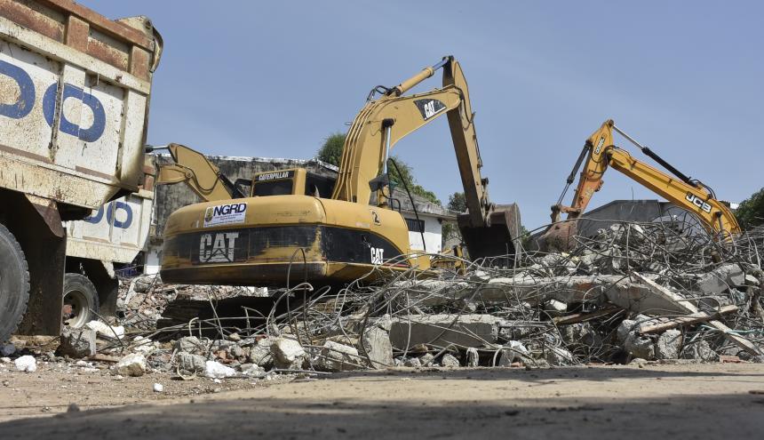 Los escombros ya fueron retirados de la zona de la tragedia, desde el sábado .