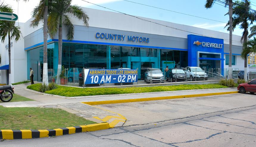 Fachada de la actual vitrina del concesionario en Barranquilla.