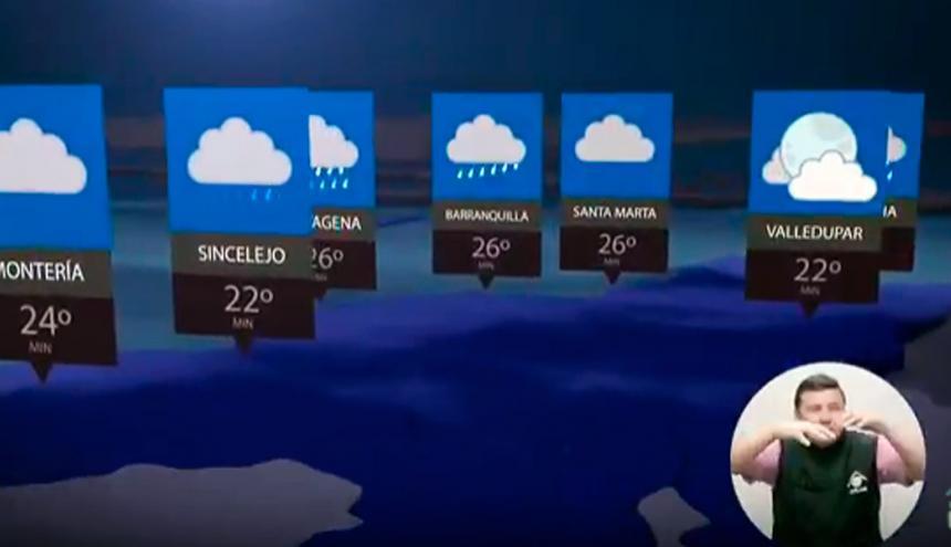 El Ideam pronostica nubosidad y lluvias en buena parte de la Costa.